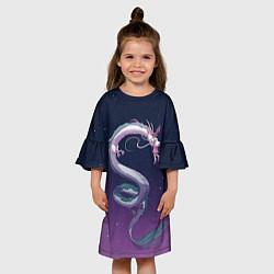 Платье клеш для девочки Унесённые призраками цвета 3D-принт — фото 2
