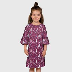 Платье клеш для девочки Холодное сердце 2 цвета 3D — фото 2