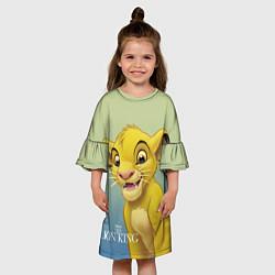 Платье клеш для девочки Юный Симба цвета 3D-принт — фото 2