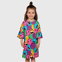 Платье клеш для девочки Pattern цвета 3D-принт — фото 2