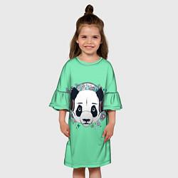 Платье клеш для девочки Пандочка цвета 3D-принт — фото 2