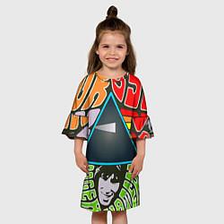 Платье клеш для девочки Pink Floyd цвета 3D-принт — фото 2
