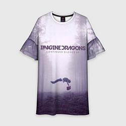 Платье клеш для девочки Imagine Dragons: Silence цвета 3D-принт — фото 1