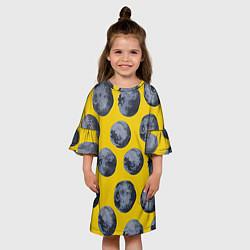 Платье клеш для девочки Ягоды цвета 3D — фото 2