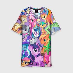 Платье клеш для девочки My Little Pony цвета 3D — фото 1
