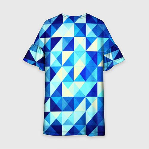Детское платье Синяя геометрия / 3D – фото 2