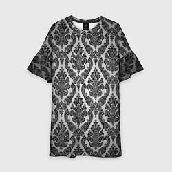 Платье клеш для девочки Гламурный узор цвета 3D — фото 1