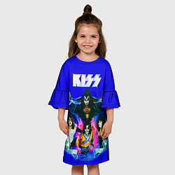 Платье клеш для девочки Kiss Show цвета 3D — фото 2