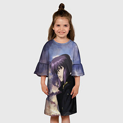 Платье клеш для девочки Призрак в доспехах цвета 3D — фото 2