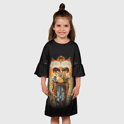 Платье клеш для девочки Michael Jackson Show цвета 3D-принт — фото 2