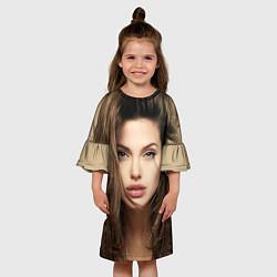 Платье клеш для девочки Анжелина Джоли цвета 3D — фото 2