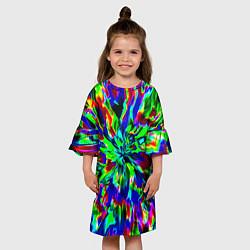 Платье клеш для девочки Оксид красок цвета 3D-принт — фото 2
