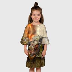 Платье клеш для девочки День победы цвета 3D — фото 2