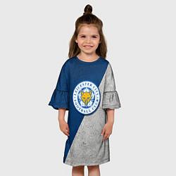 Платье клеш для девочки Leicester City FC цвета 3D-принт — фото 2