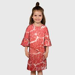 Платье клеш для девочки Кусок мяса цвета 3D — фото 2