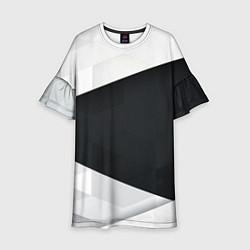 Платье клеш для девочки Чёрно-белый цвета 3D — фото 1
