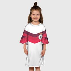 Платье клеш для девочки Сборная Германии по футболу цвета 3D-принт — фото 2