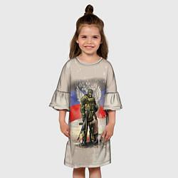 Платье клеш для девочки Солдат и дитя цвета 3D — фото 2