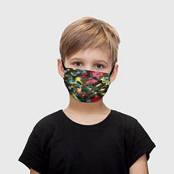 Маска для лица детская Цветной камуфляж цвета 3D — фото 1