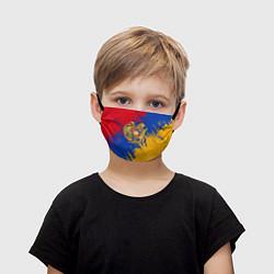 Маска для лица детская Герб и флаг Армении цвета 3D-принт — фото 1