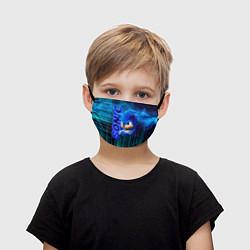 Маска для лица детская Sonik цвета 3D-принт — фото 1