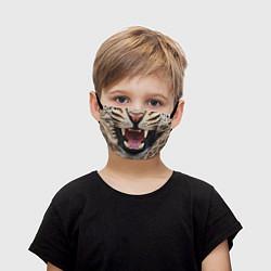 Маска для лица детская Взгляд леопарда цвета 3D — фото 1