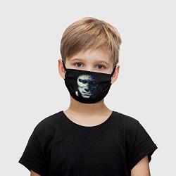 Маска для лица детская Взгляд Терминатора цвета 3D-принт — фото 1