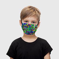Маска для лица детская Оксид красок цвета 3D — фото 1