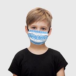 Маска для лица детская Гжель цвета 3D — фото 1