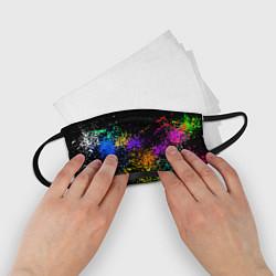 Маска для лица детская Брызги красок цвета 3D — фото 2
