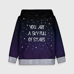 Толстовка-худи детская Coldplay: Night Sky цвета 3D-меланж — фото 1