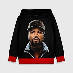 Толстовка-худи детская Ice Cube цвета 3D-красный — фото 1