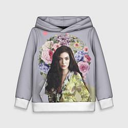 Толстовка-худи детская Lorde Floral цвета 3D-белый — фото 1