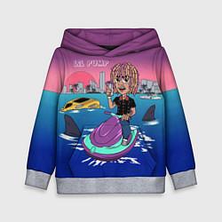Толстовка-худи детская Lil Pump on the water цвета 3D-меланж — фото 1