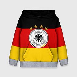 Толстовка-худи детская Немецкий футбол цвета 3D-меланж — фото 1