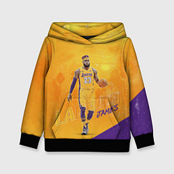 Толстовка-худи детская LeBron James: NBA Star цвета 3D-черный — фото 1