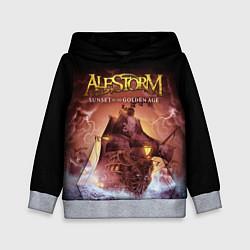 Толстовка-худи детская Alestorm: Golden Ship цвета 3D-меланж — фото 1