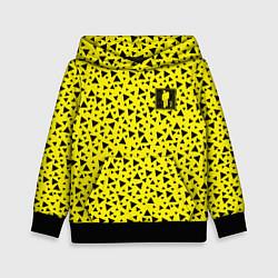 Толстовка-худи детская Billie Eilish: Yellow Mood цвета 3D-черный — фото 1