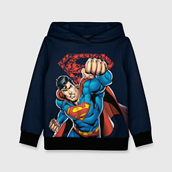 Толстовка-худи детская Superman цвета 3D-черный — фото 1