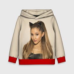 Толстовка-худи детская Ariana Grande Ариана Гранде цвета 3D-красный — фото 1