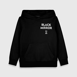 Толстовка-худи детская ЧЕРНОЕ ЗЕРКАЛО цвета 3D-черный — фото 1