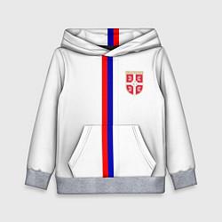 Толстовка-худи детская Сборная Сербии цвета 3D-меланж — фото 1
