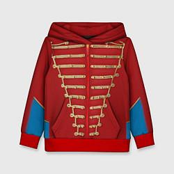 Толстовка-худи детская Пиджак Майкла Джексона цвета 3D-красный — фото 1