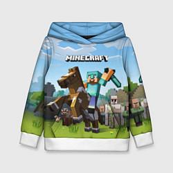 Толстовка-худи детская Minecraft Rider цвета 3D-белый — фото 1