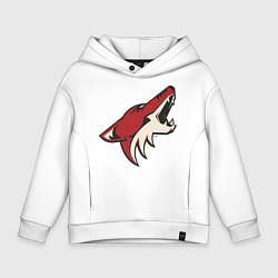 Детская хлопковая толстовка оверсайз с принтом Phoenix Coyotes, цвет: белый, артикул: 10010707606093 — фото 1