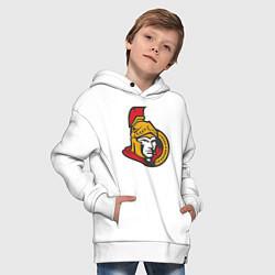 Толстовка оверсайз детская Ottawa Senators цвета белый — фото 2