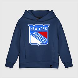 Толстовка оверсайз детская New York Rangers цвета тёмно-синий — фото 1
