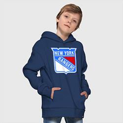 Толстовка оверсайз детская New York Rangers цвета тёмно-синий — фото 2