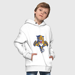 Толстовка оверсайз детская Florida Panthers цвета белый — фото 2