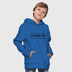 Толстовка оверсайз детская Prodigy лого с муравьем цвета синий — фото 2
